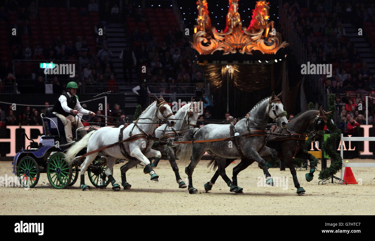Equestrian - 2014 Olympia London International Horse Show - Day Three - Olympia Exhibition Centre - Stock Image
