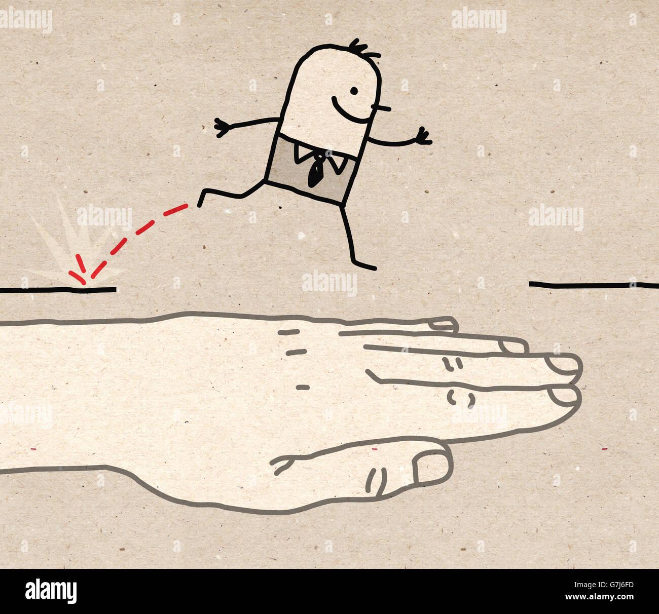 Big hand - help - Stock Image
