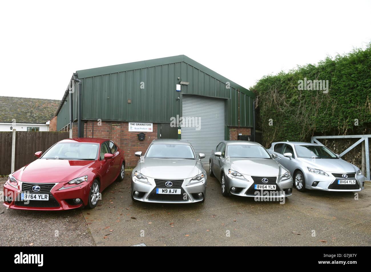 Toyota Fleet Handover - Lichfield - Stock Image