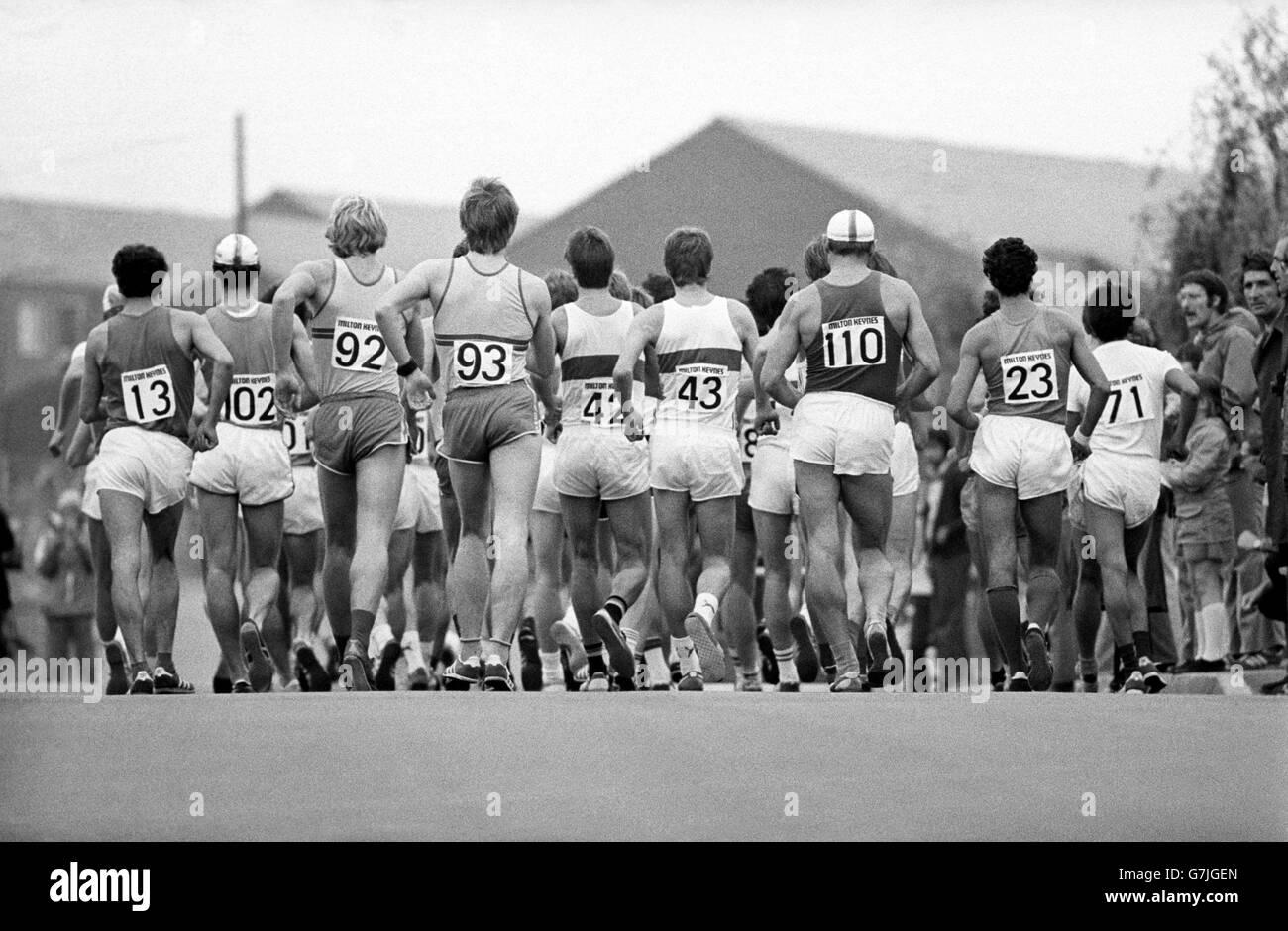 Athletics - 1977 IAAF World Race Walking Cup - Milton Keynes - Stock Image