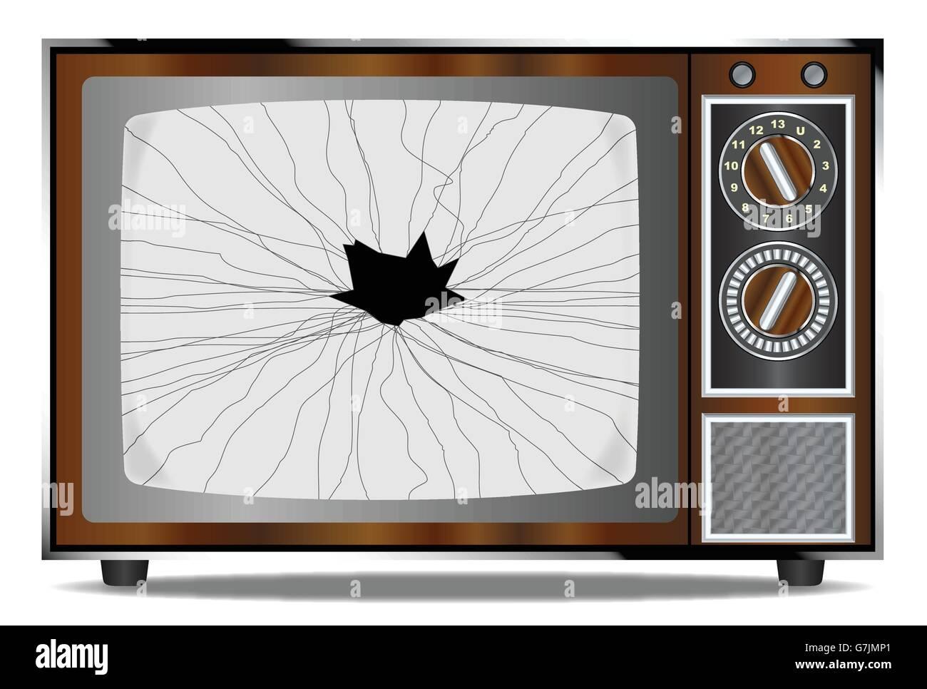 Smashed Television Screen Stock Photos Amp Smashed
