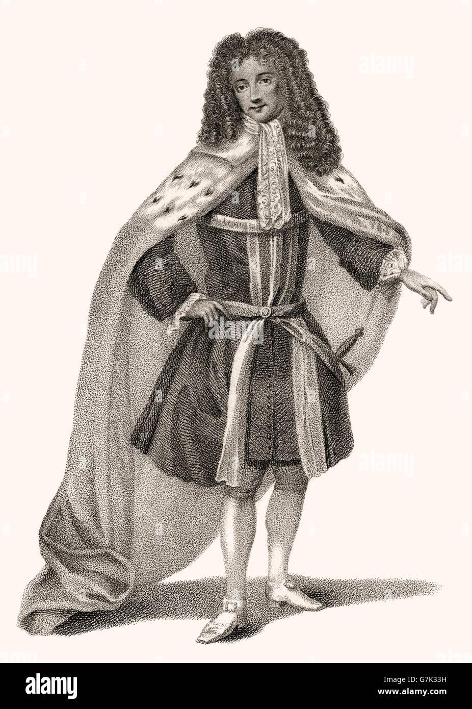 John Jeffreys 2nd Baron Jeffreys of Wem, 1673-1703 - Stock Image