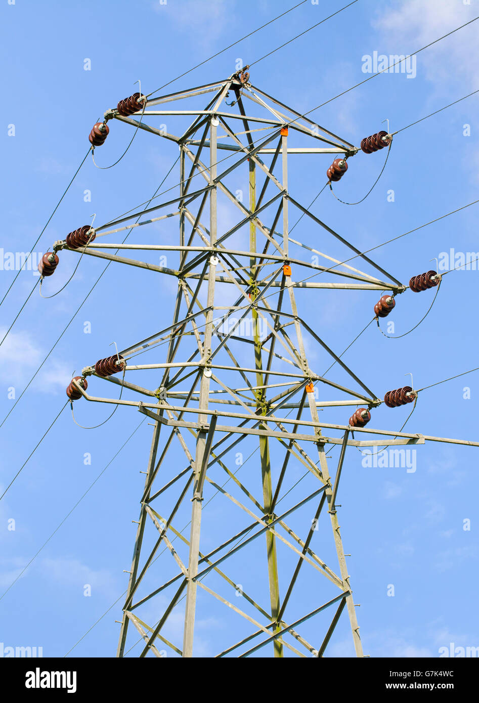 Electricity pylon in the UK. - Stock Image