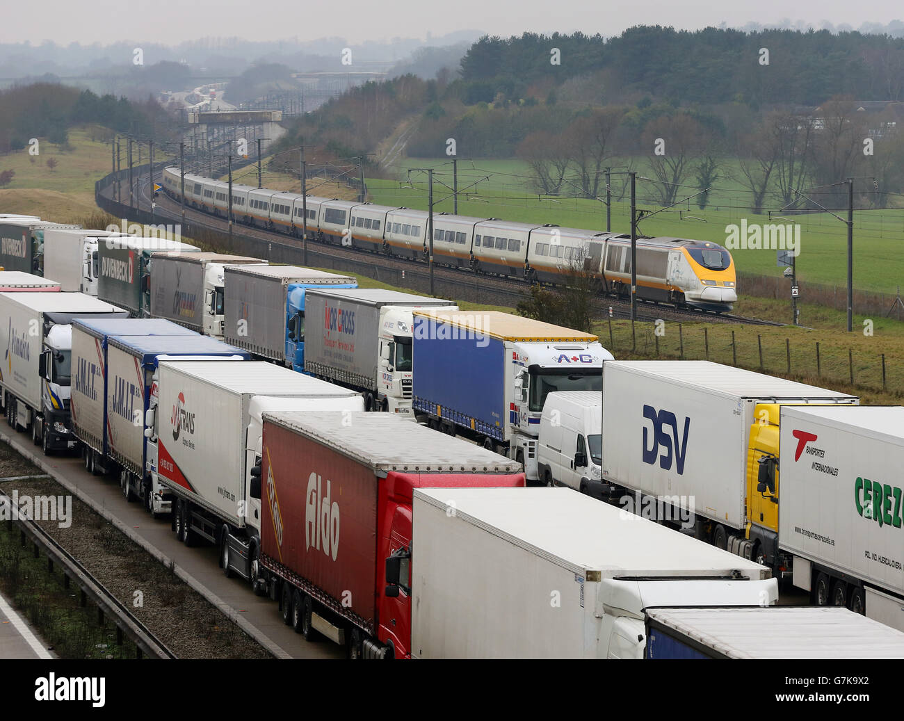 Eurostar delays - Stock Image