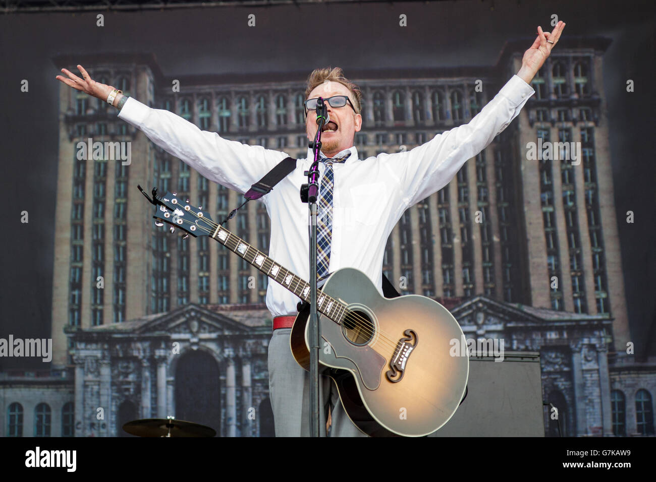 Rho Italy. 15th June 2011. The Irish-American band FLOGGING MOLLY performs live at Arena Fiera di Milano during - Stock Image
