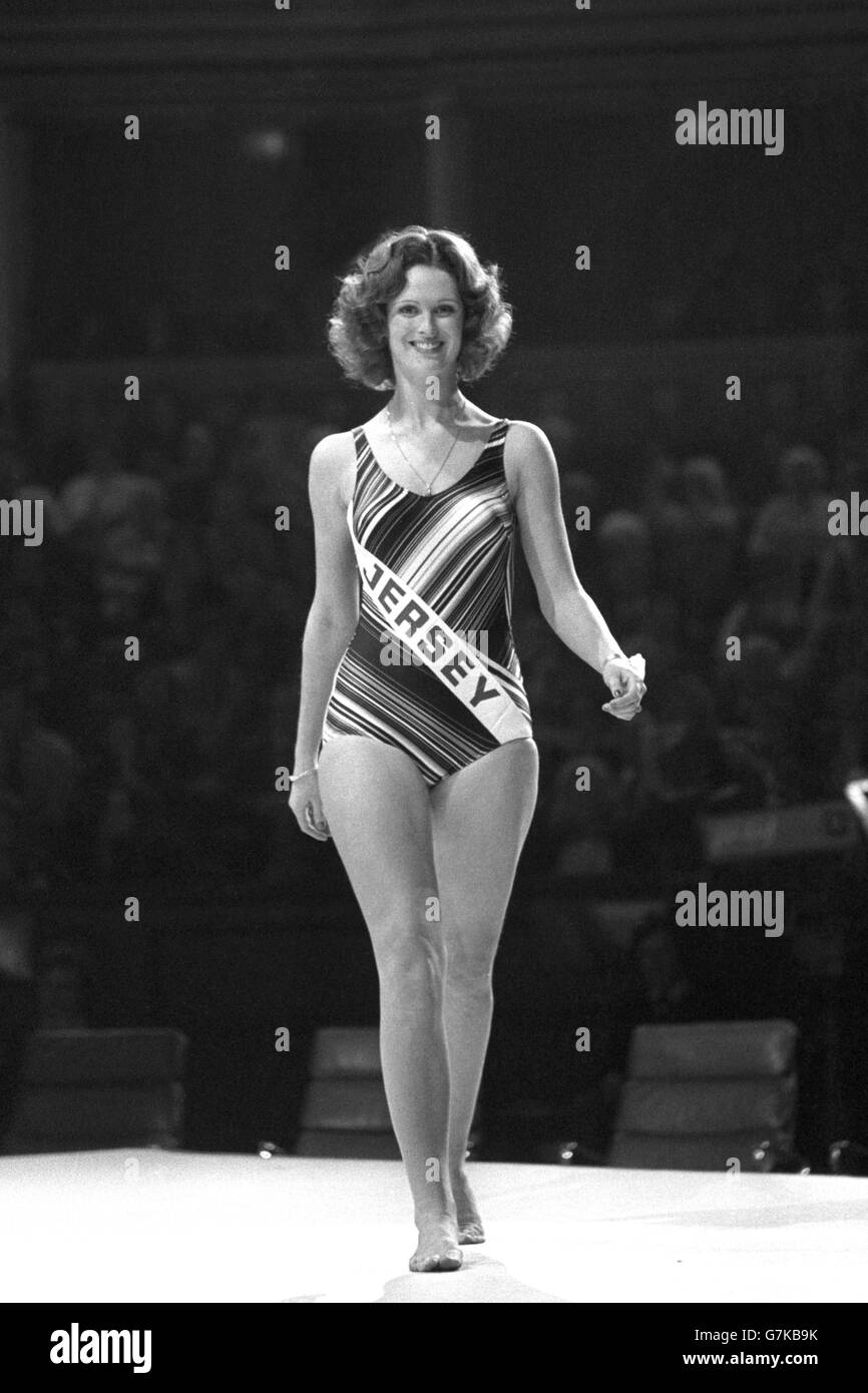 Miss World 1975 - Royal Albert Hall, London - Stock Image