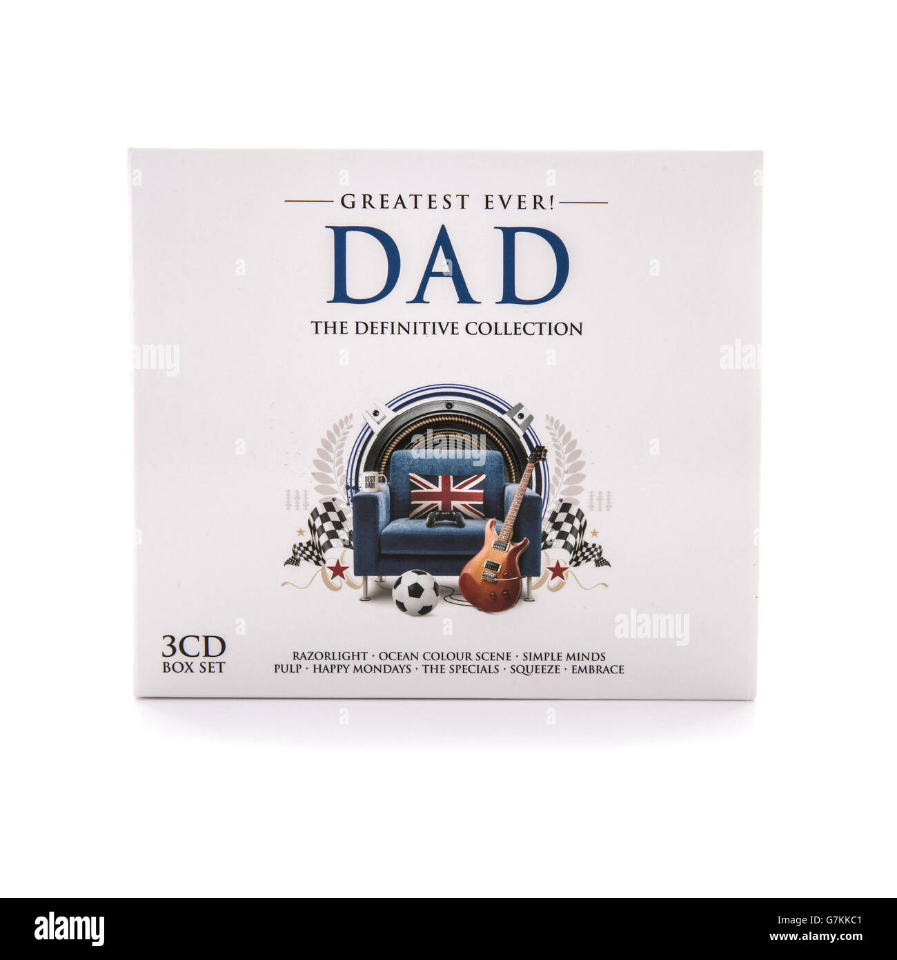 Greatest Ever Dad, The Definitive Collection 3 CD Box Set on a white background - Stock Image