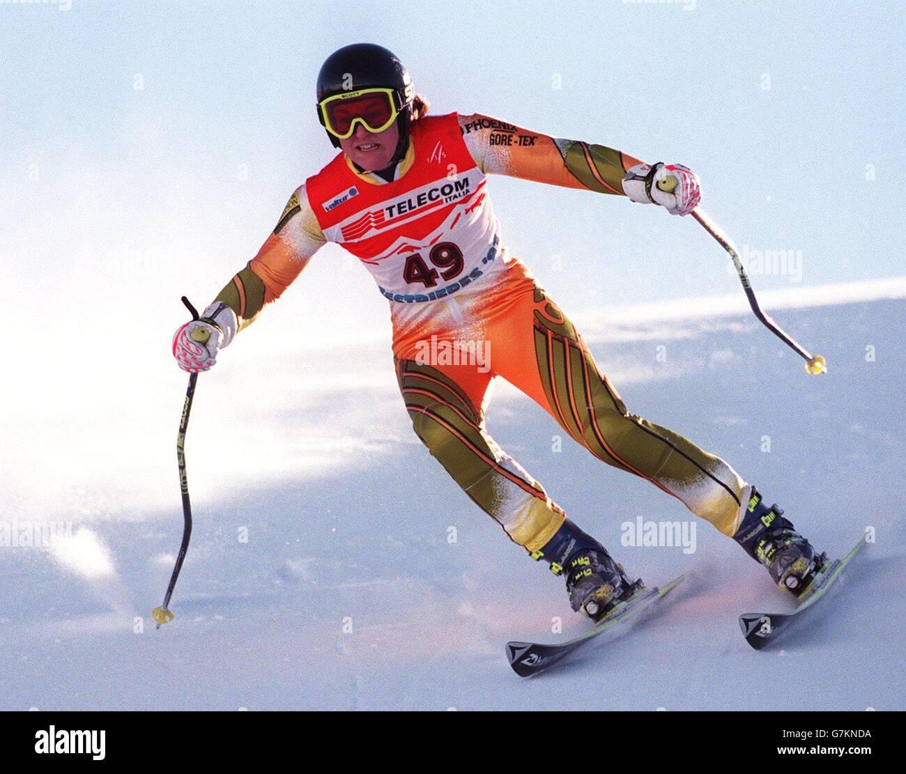 Skiing - Alpine World Ski Championships - 7th Giant Slalom Men - Sestrieres 97 - Stock Image