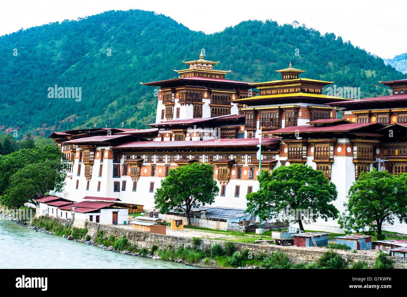 Majestic Punakha Dzong - Stock Image