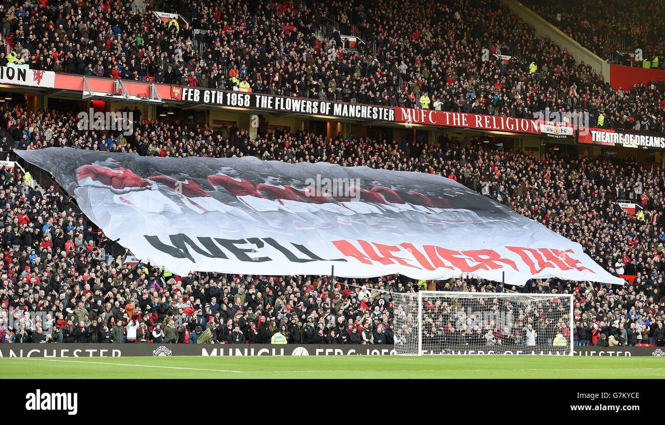 Soccer - Barclays Premier League - Manchester United v Leicester City - Old Trafford - Stock Image