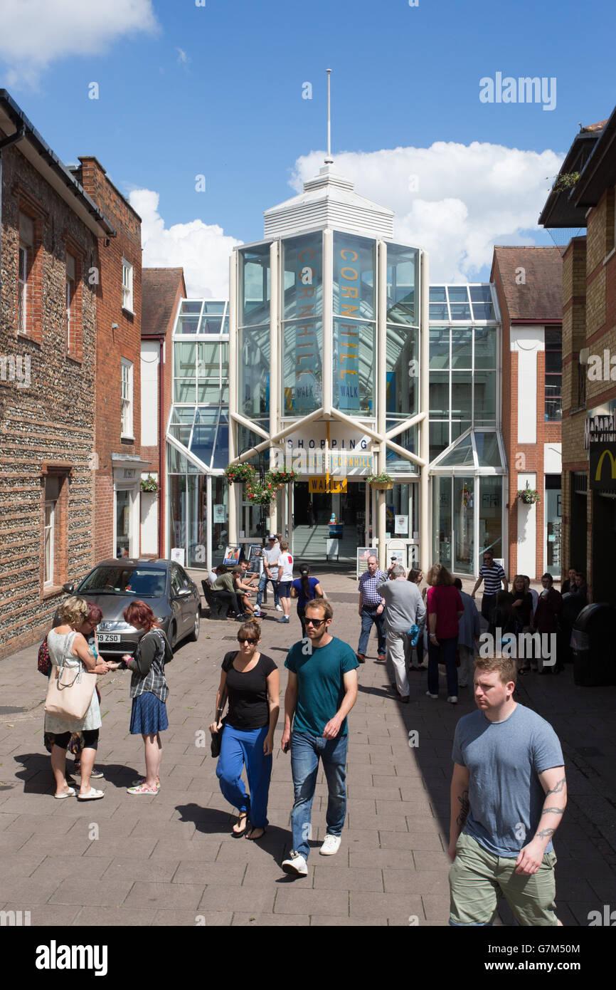 Cornhill Walk Shopping Centre, Bury St Edmunds, Suffolk - Stock Image