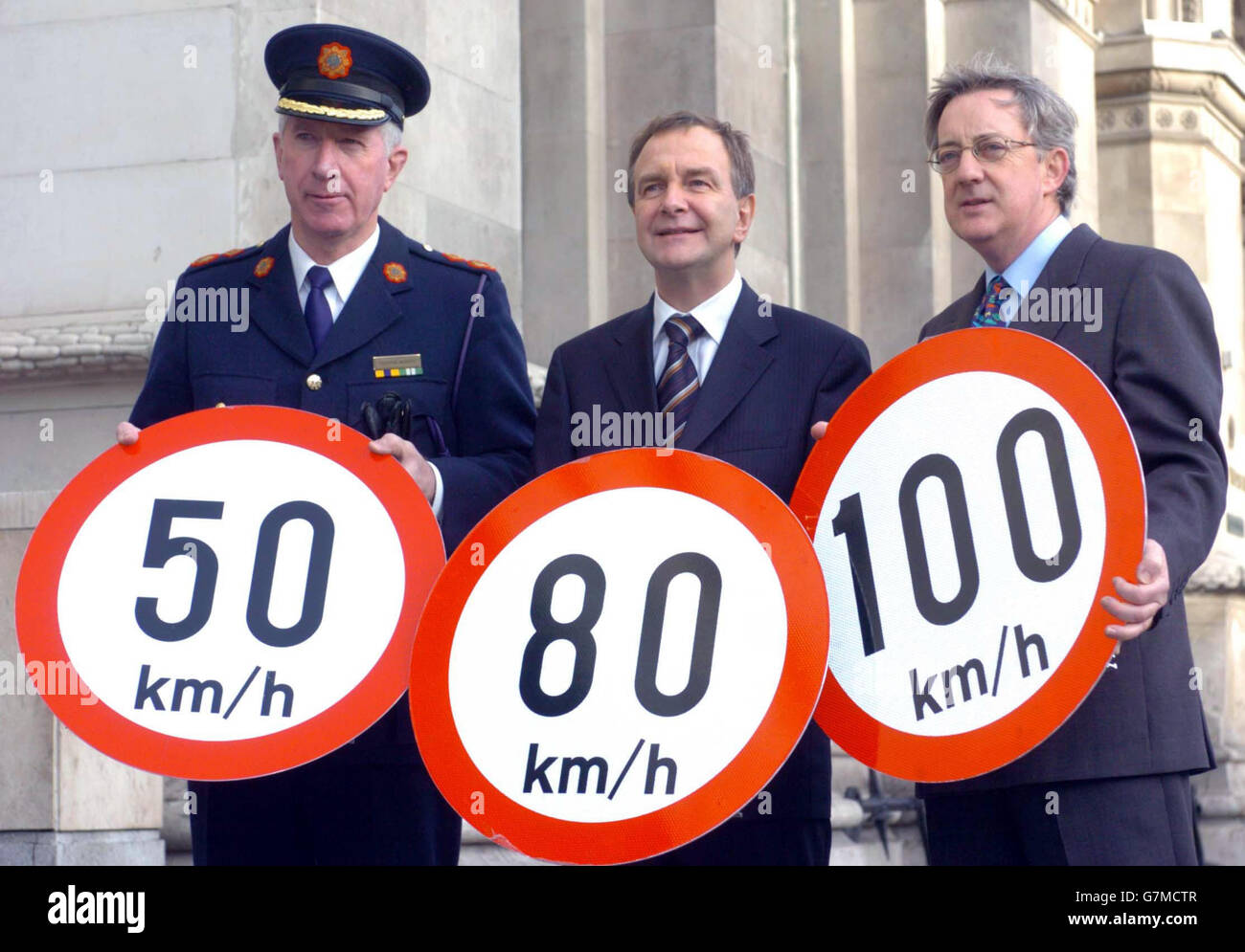 Irish Metric Speed Limits - Westin Hotel, Dublin - Stock Image