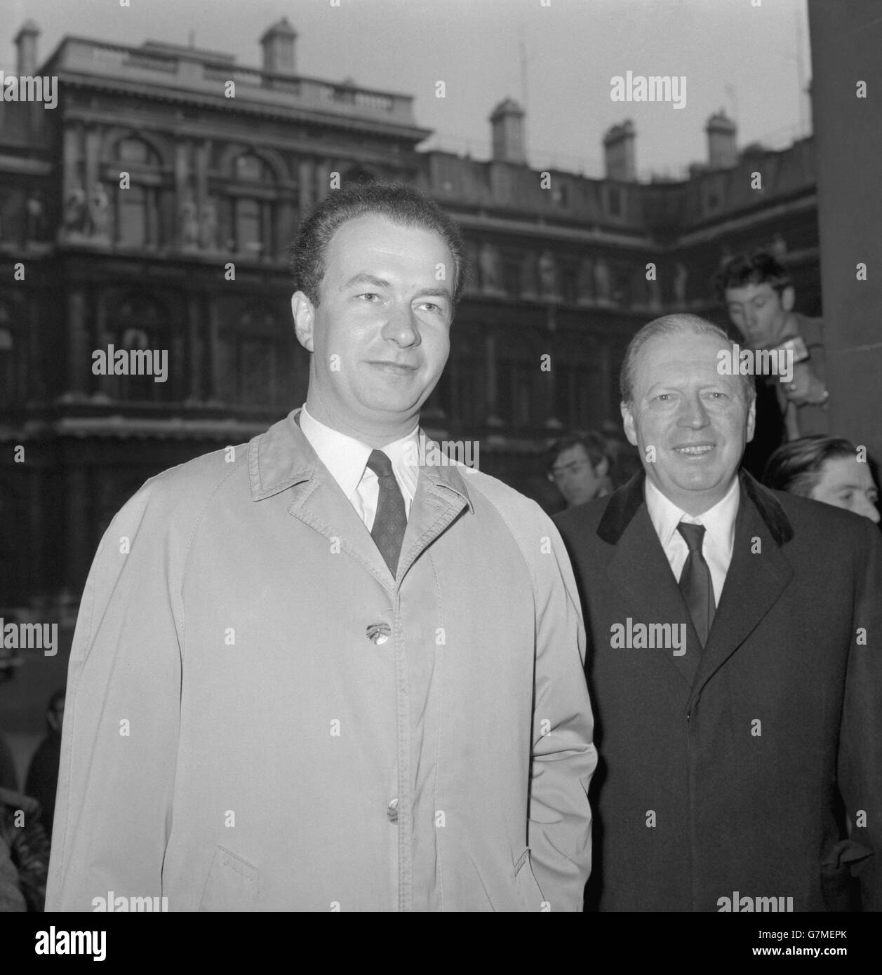 Politics - Campaign To Release Rudolf Hess - Airey Neave and Wolf Hess - Foreign Office, London Stock Photo