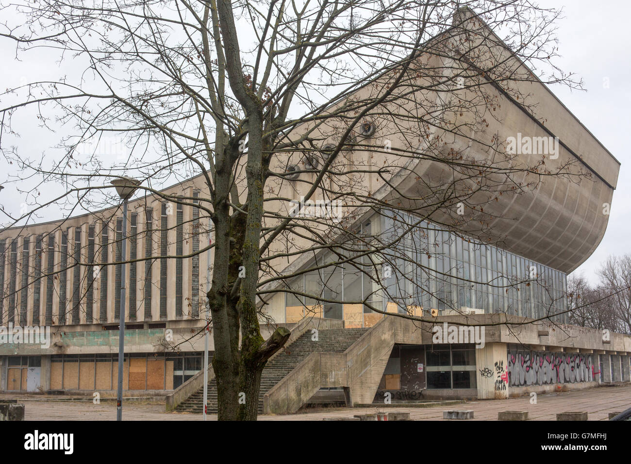 Vilnius Sport complex and Palace of Concerts and Sports, also known as the Sporto Rūmai, Vilnius, Lithuania, Europe, Stock Photo