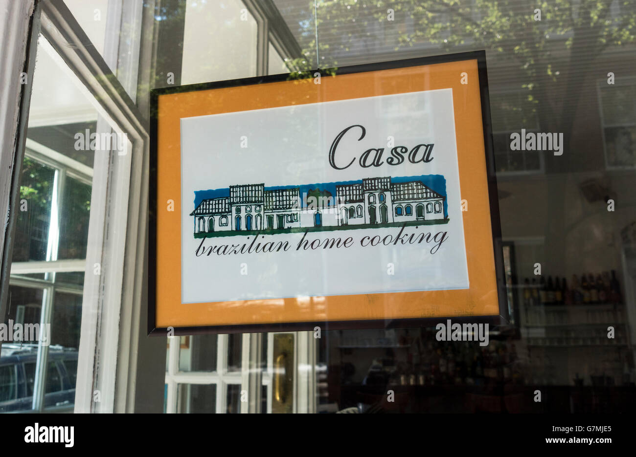 Casa Brazilian home cooking restaurant in Greenwich Village in New York City - Stock Image