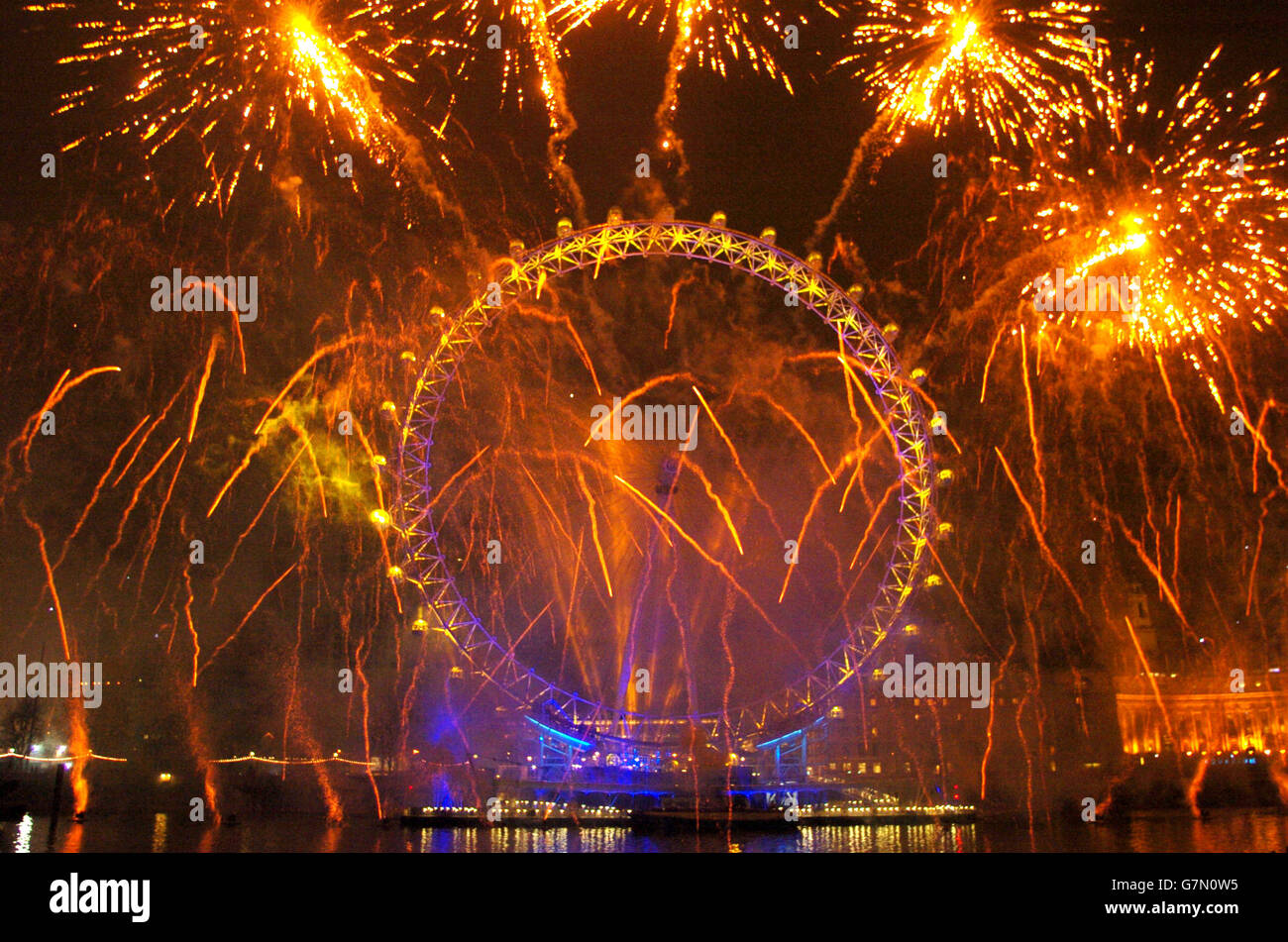 Customs and Traditions - New Year Celebrations - London Stock Photo
