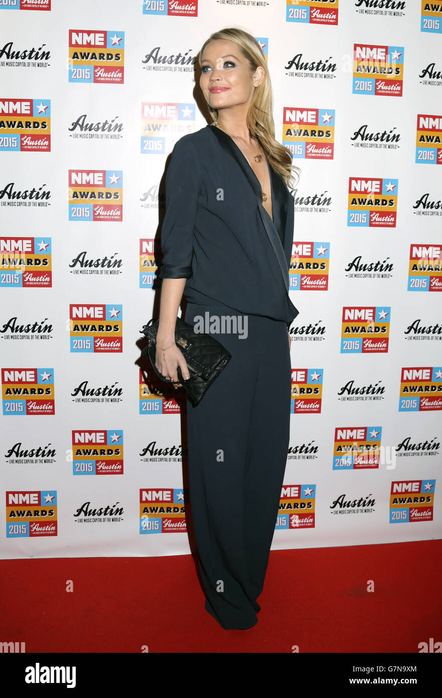 NME Awards 2015 with Austin Texas - London - Stock Image