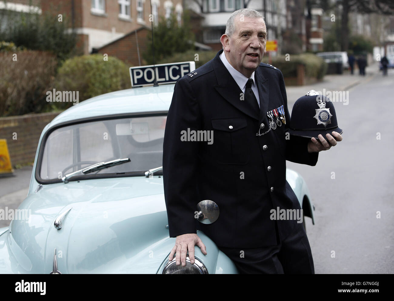 Longest serving officer to retire - Stock Image