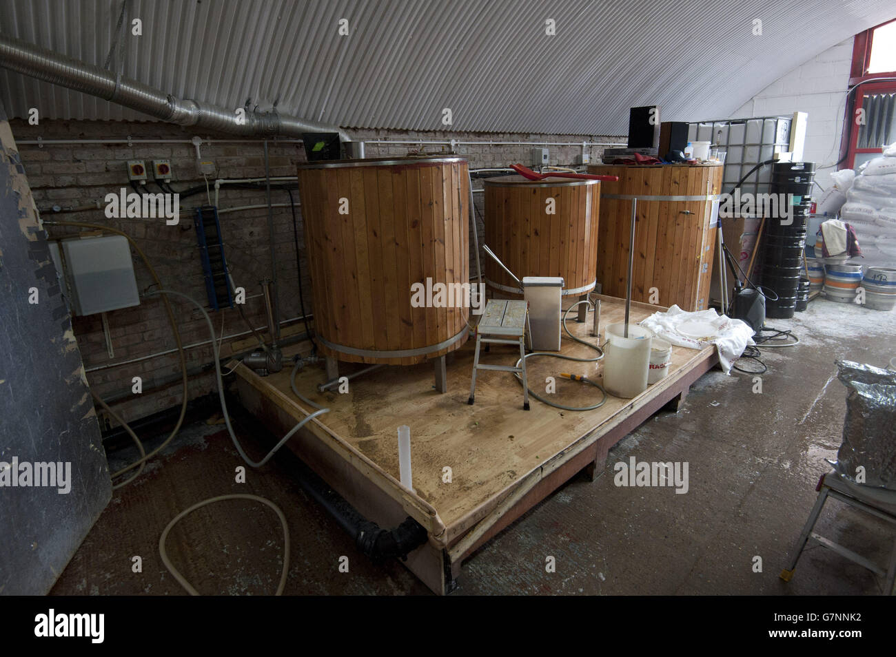 Growth in craft breweries in London - Stock Image
