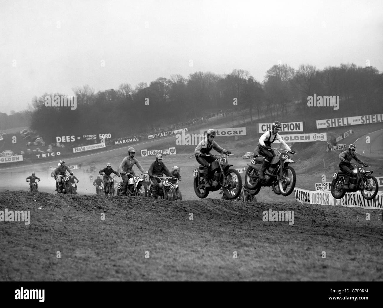 Motor Sport - Motorcycle Scramble - Brands Hatch, Kent - Stock Image