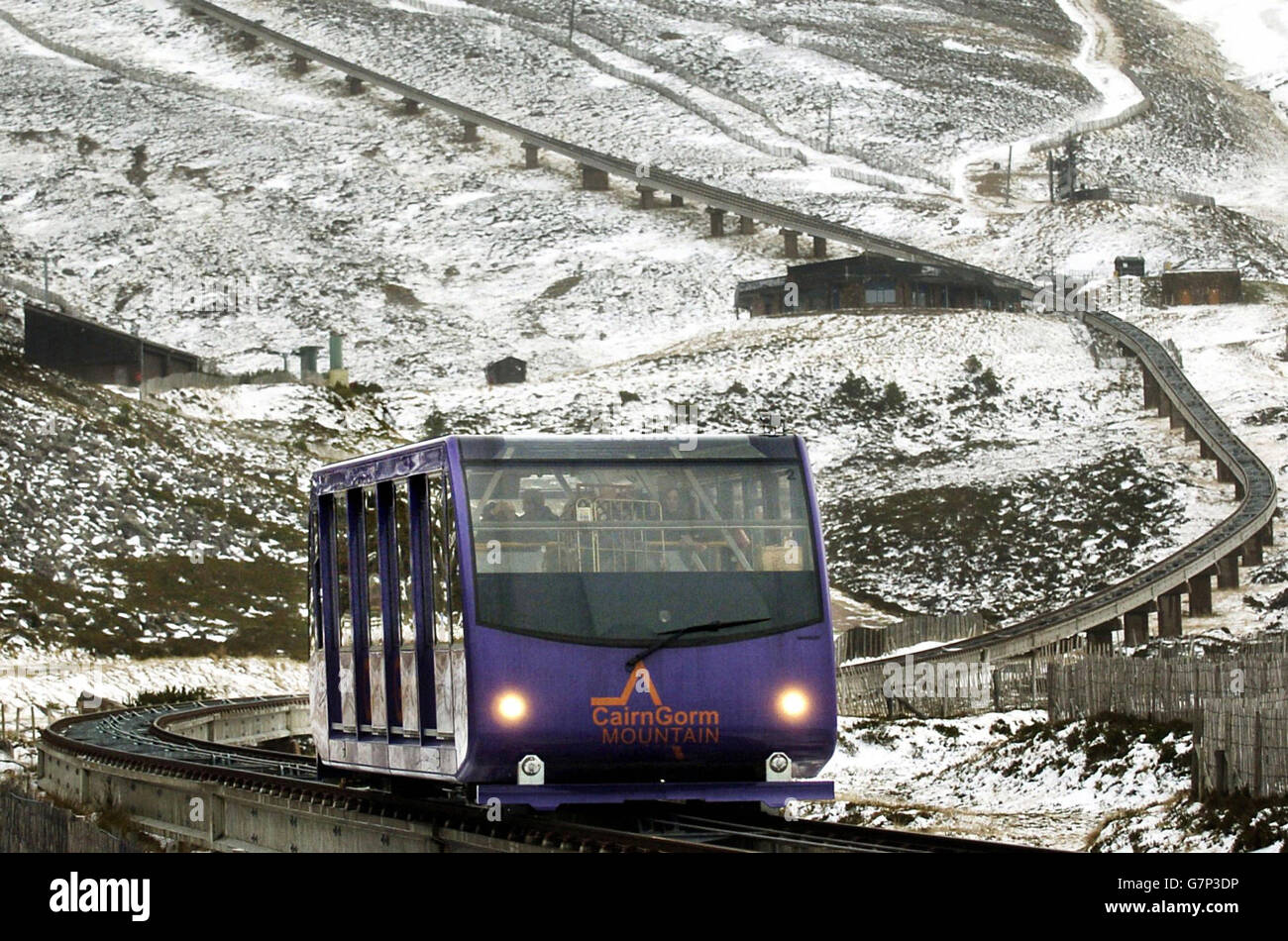Transport - CairnGorm Mountain Railway - Scotland - Stock Image