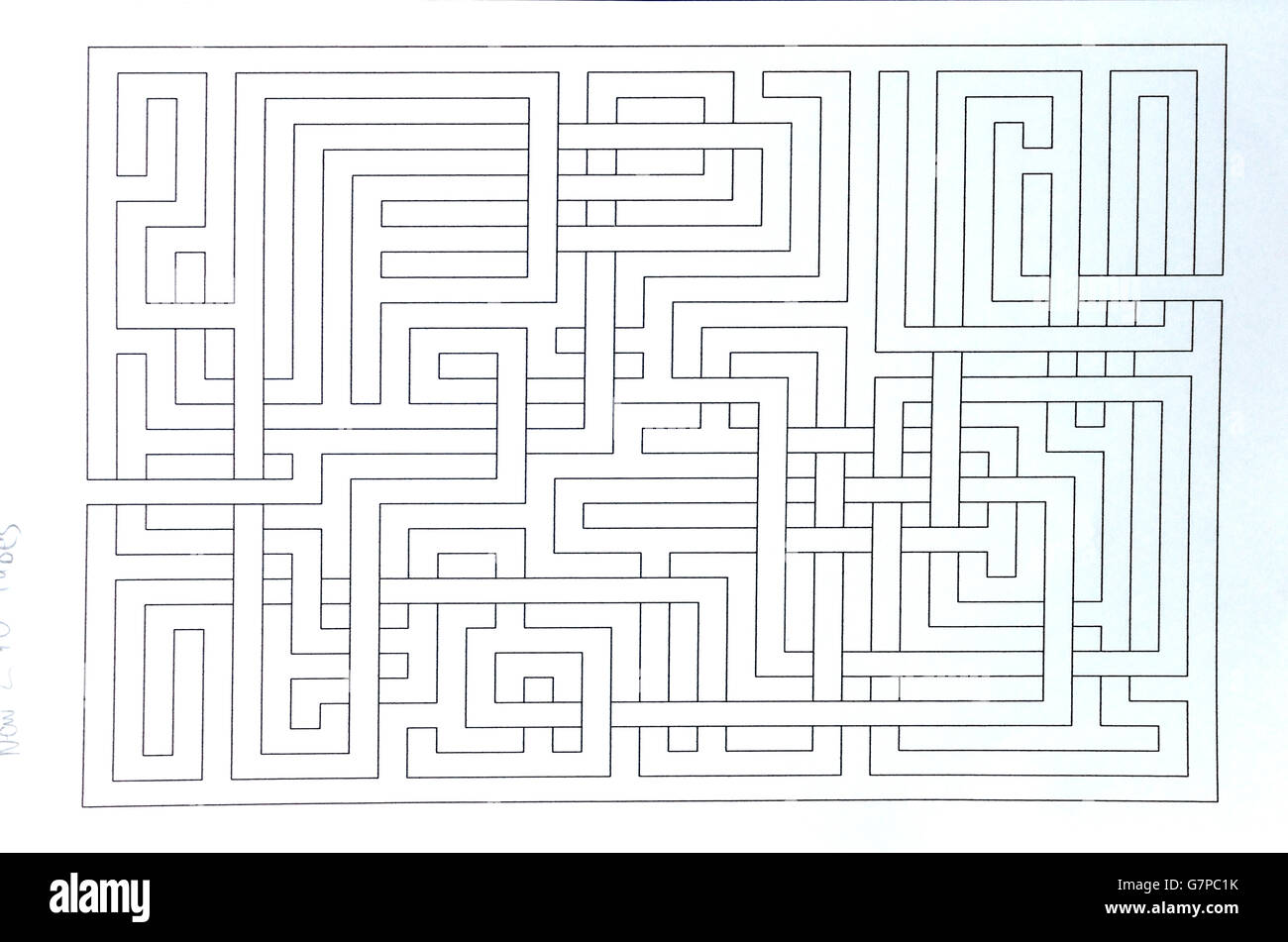 I draw, design, create, generate, make  aMAZEing labyrinths ! I love labyrinths ! - Stock Image