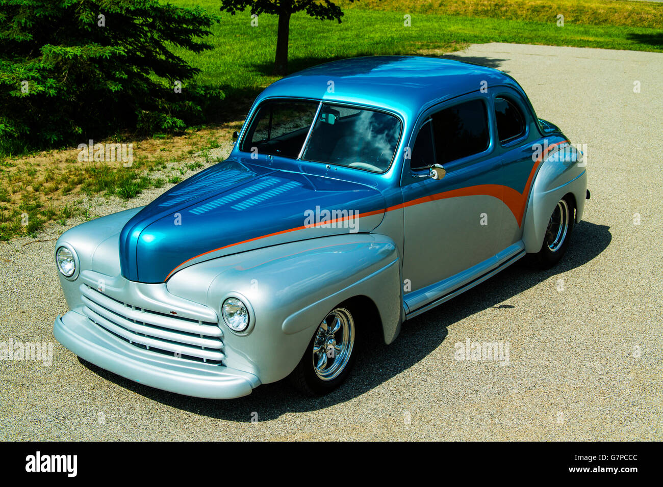 1947 Custom Ford 2 door Coupe - Stock Image