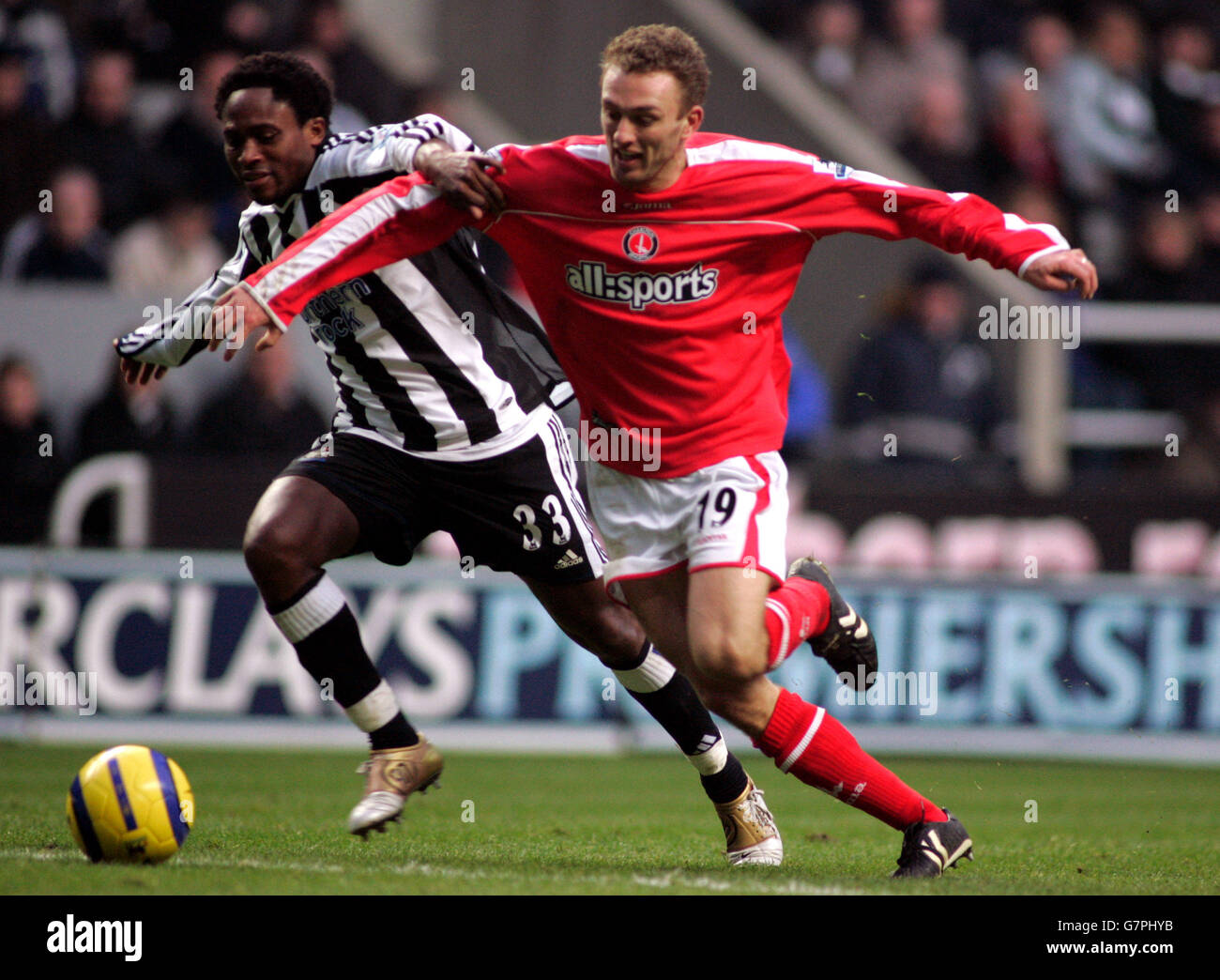 Soccer - FA Barclays Premiership - Newcastle United v Charlton Athletic - St James' Park - Stock Image