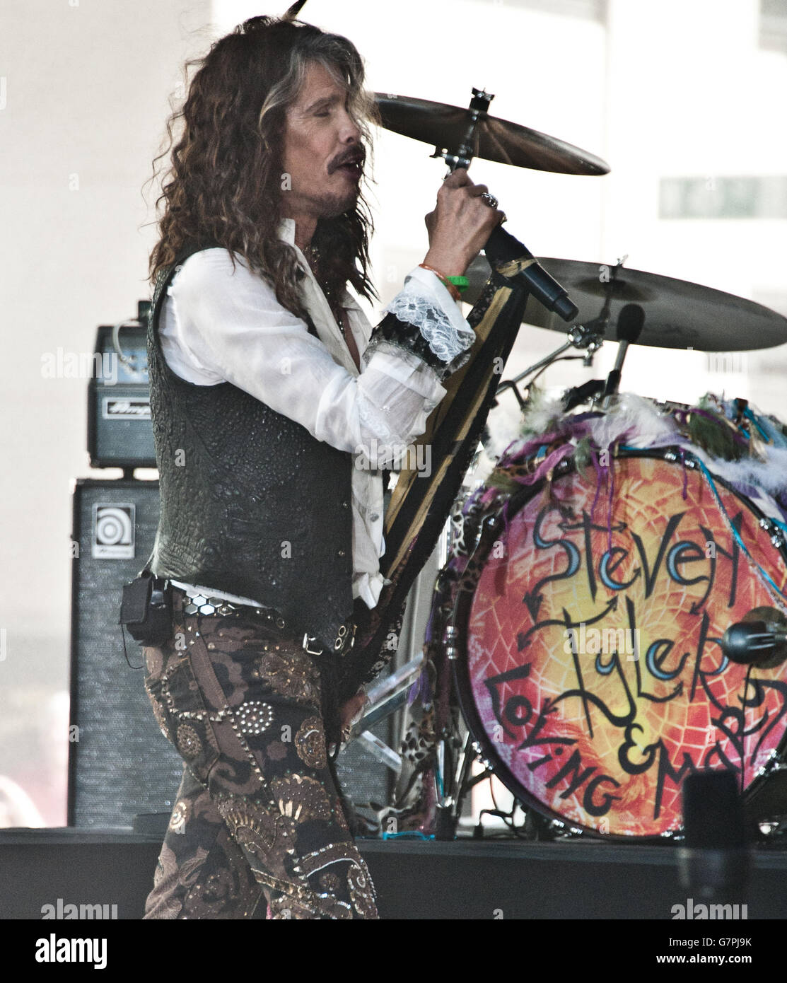 "New York, NY, USA. 24th June, 2016. Steven Tyler Performs on NBC's ""Today"" Show at Rockefeller Plaza. Stock Photo"