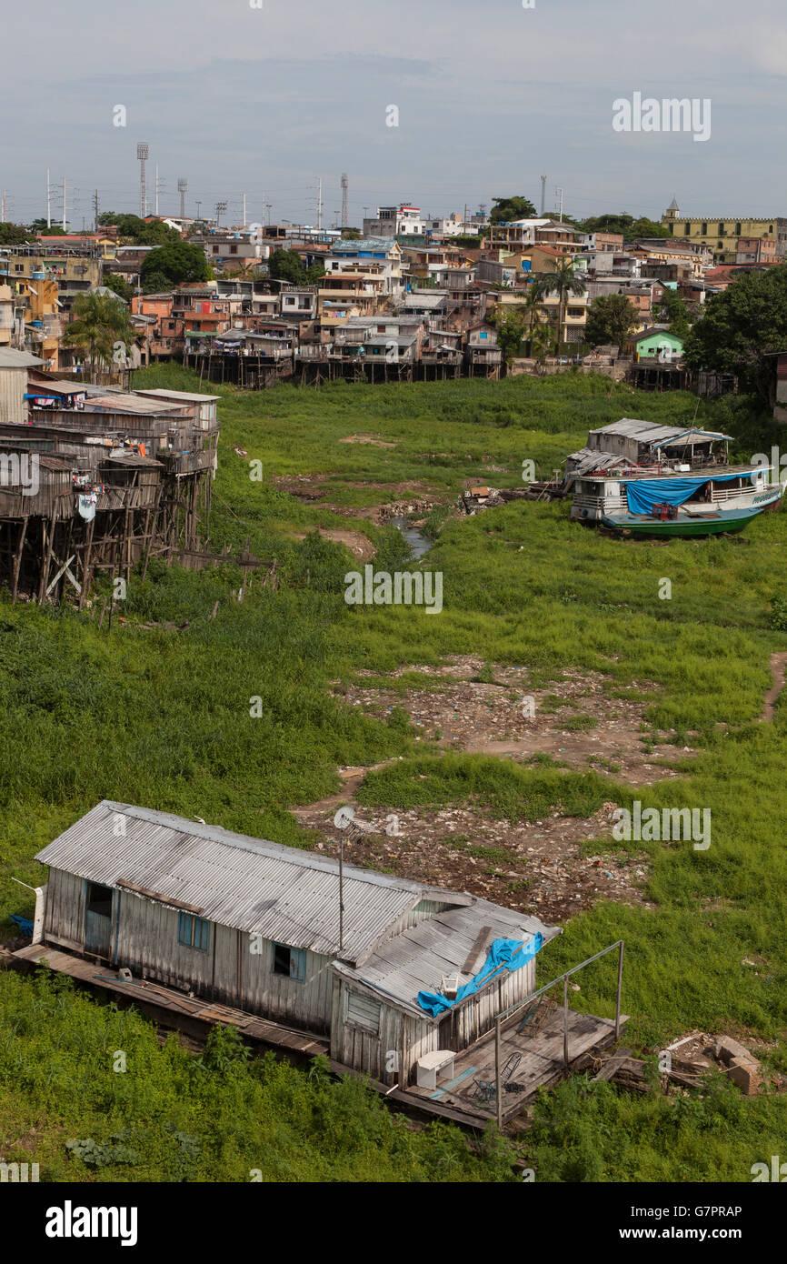 07681af33fb Stilt houses in a Manaus city favela