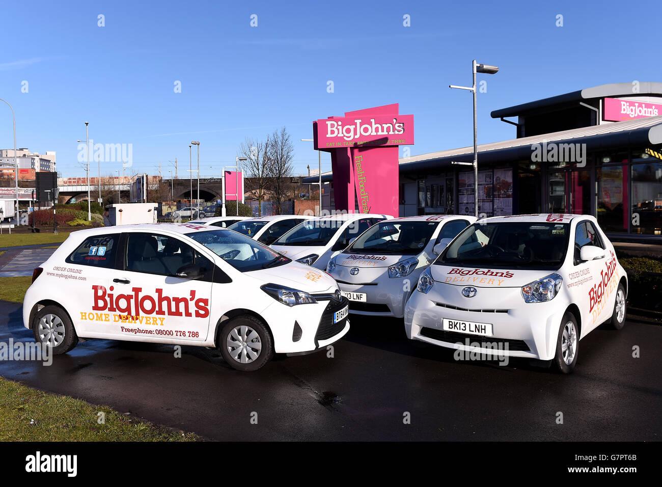 Toyota Fleet Handover - Birmingham - Stock Image