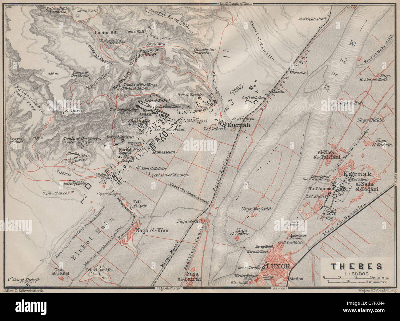 Thebes Map on