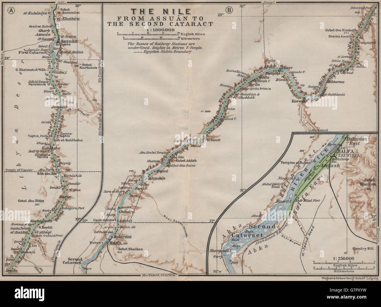 NILE RIVER VALLEY Aswan-Wadi Halfa/2nd cataract Pre-Lake