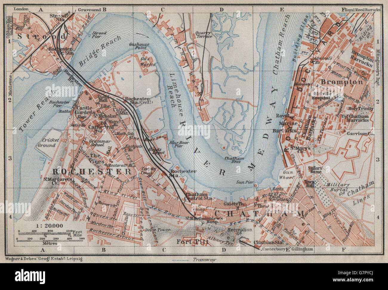 Chatham England Map.Strood Stock Photos Strood Stock Images Alamy