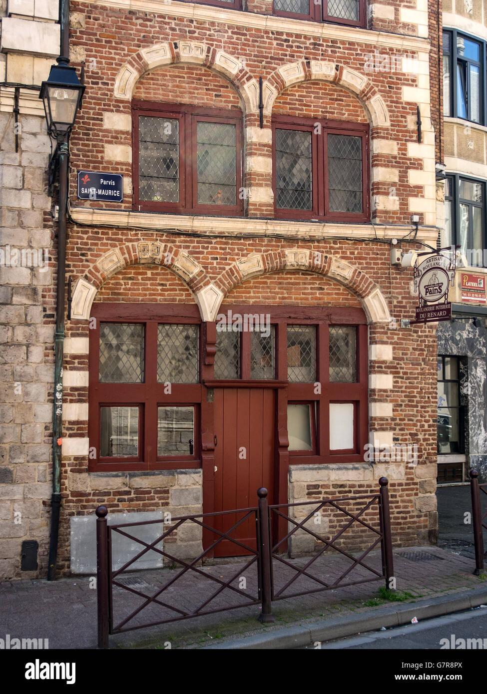 Artisan Boulangerie bakery shop in Lille - Stock Image