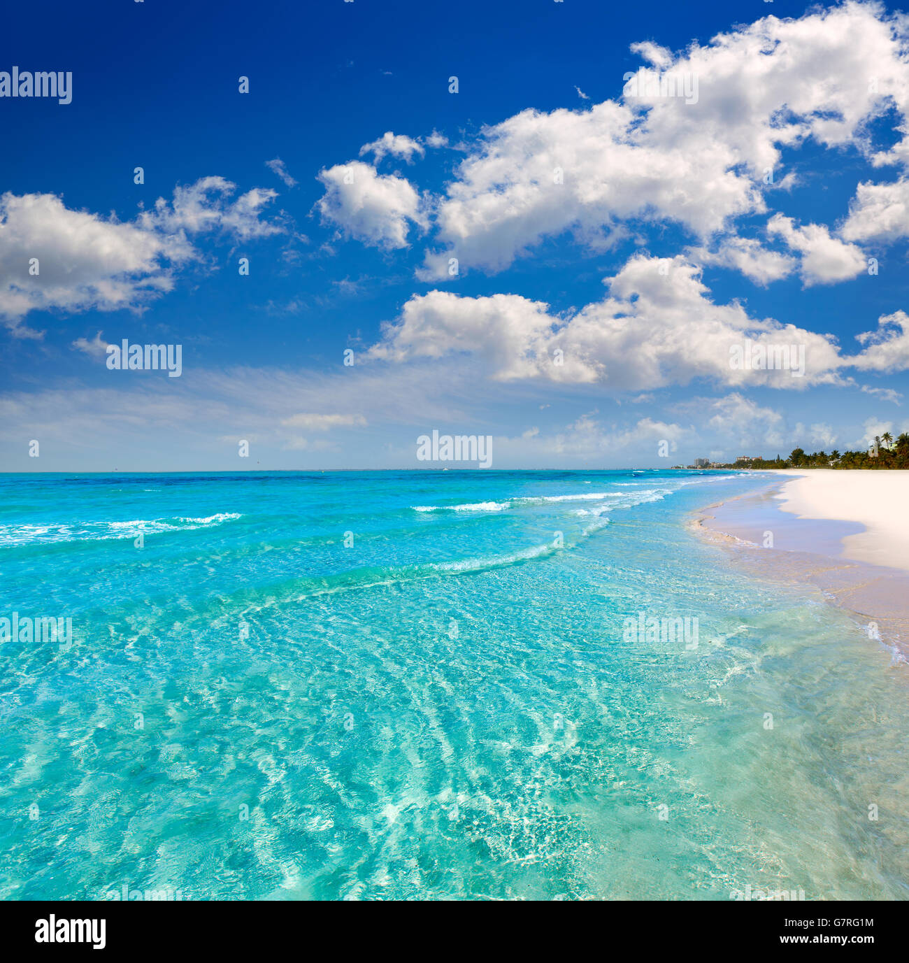 Florida Fort Myers Beach Clear Water In Usa Stock Photo