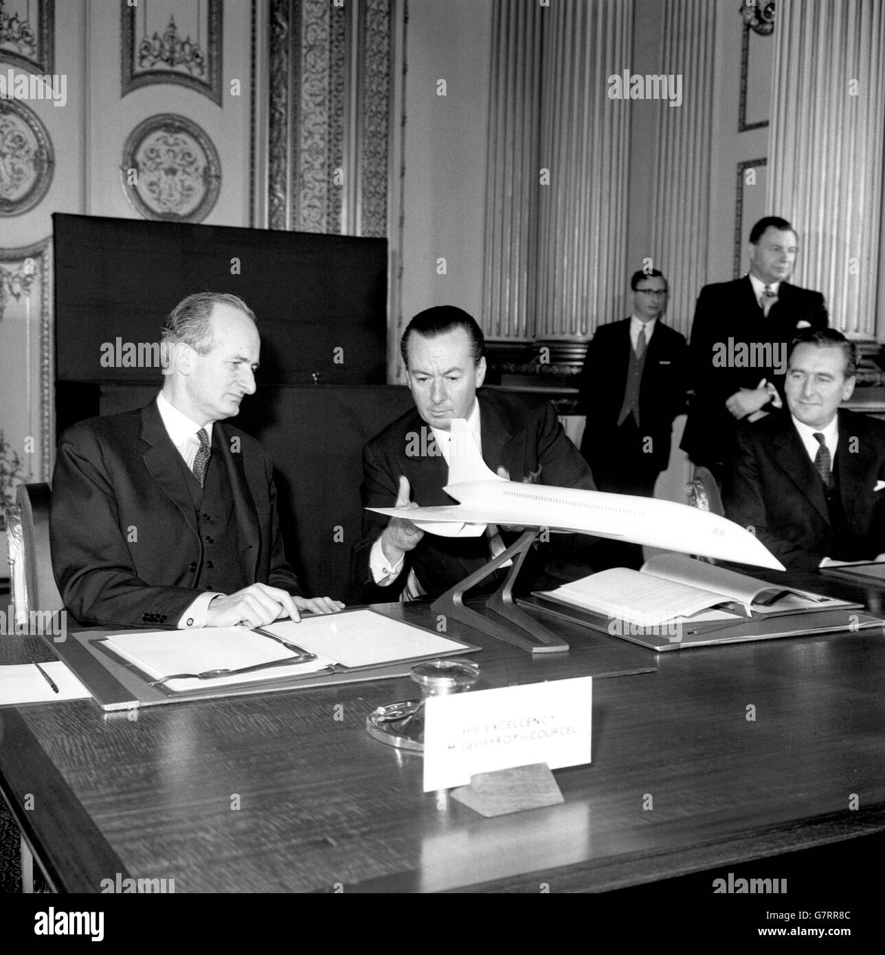 Aviation Anglo French Airliner Agreement Lancaster House London