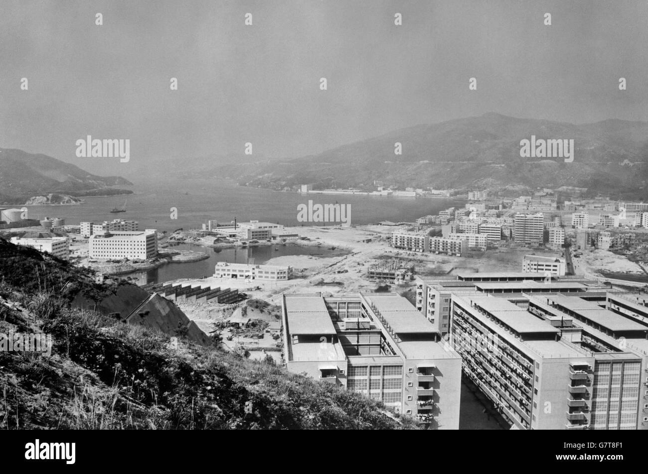 News - Kwai Chung Reclamation Project - Hong Kong Stock Photo