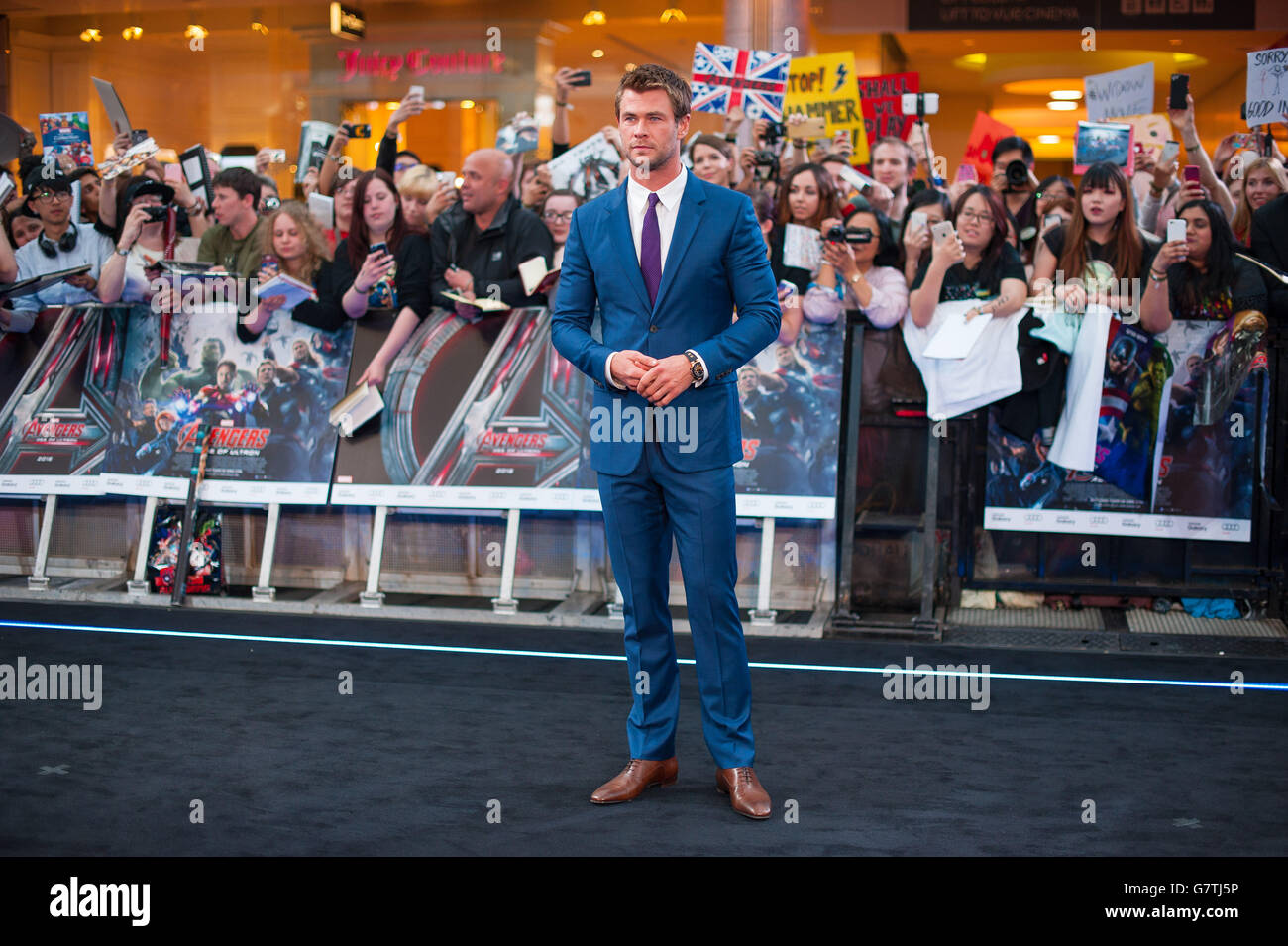 Marvel Avengers: The Age Of Ultron UK Film Premiere - London - Stock Image