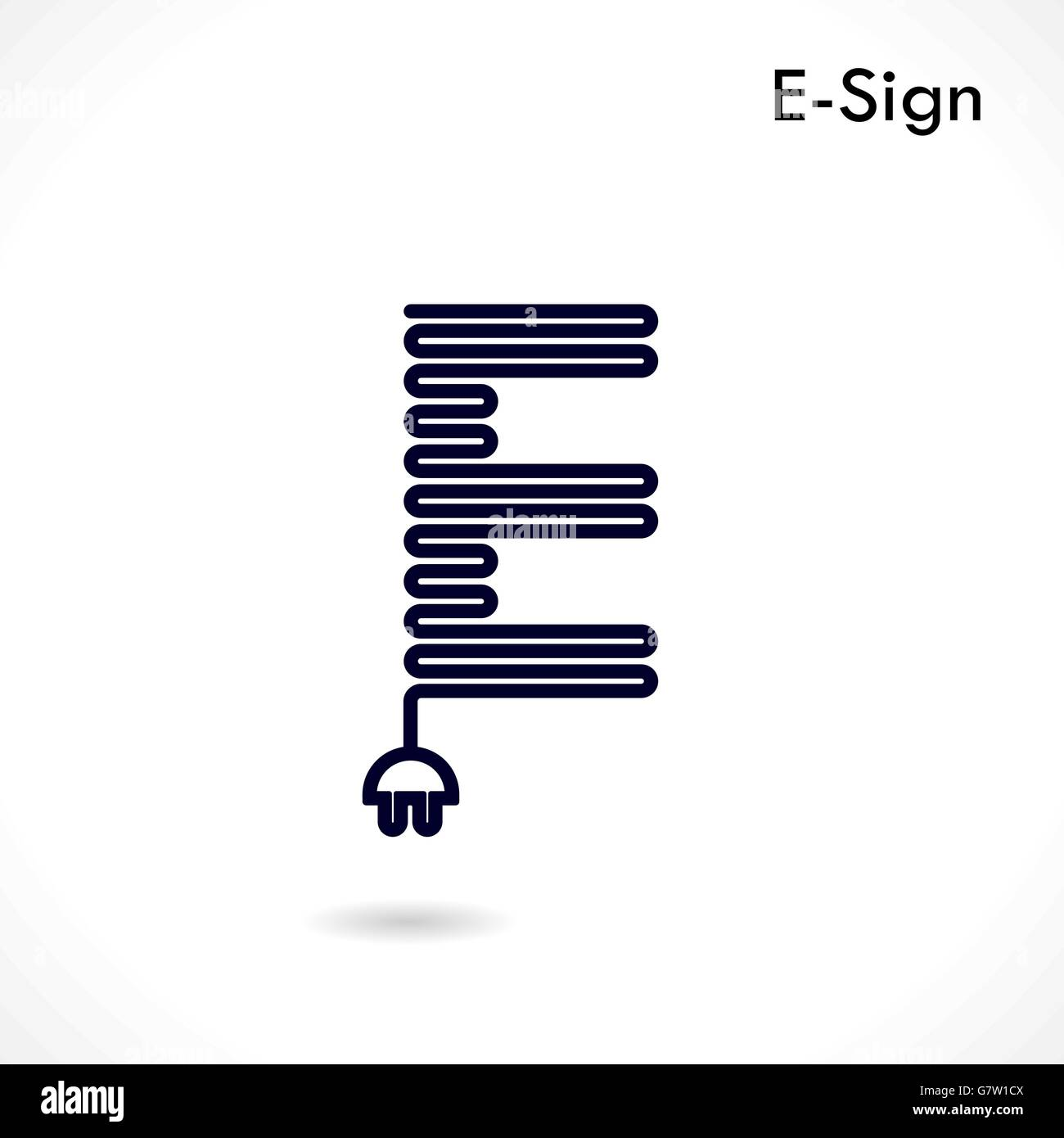 Creative E Letter Icon Abstract Logo Design Vector Template