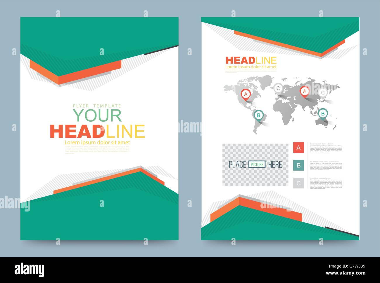 Cover Template Design For Business Annual Report Flyer Brochure Stock Vector Art & Illustration