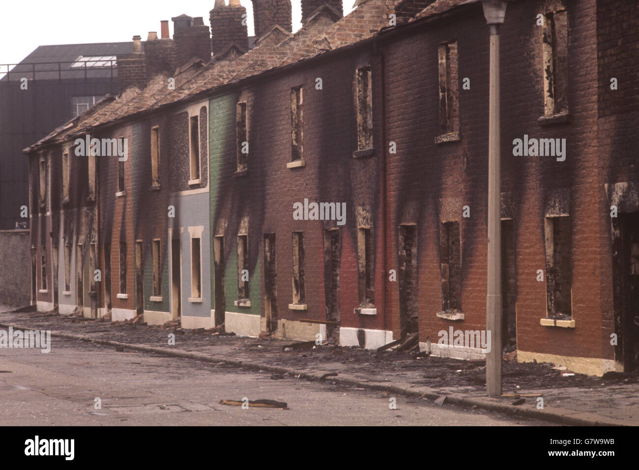 Northern Ireland - The Troubles - Conway Street - Belfast Stock Photo