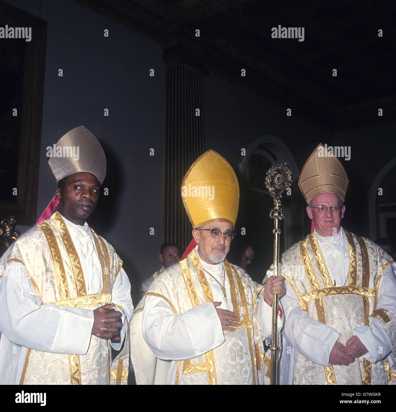 Religion - Three Cardinals Concelebrate Mass - Westminster Cathedral, London - Stock Image