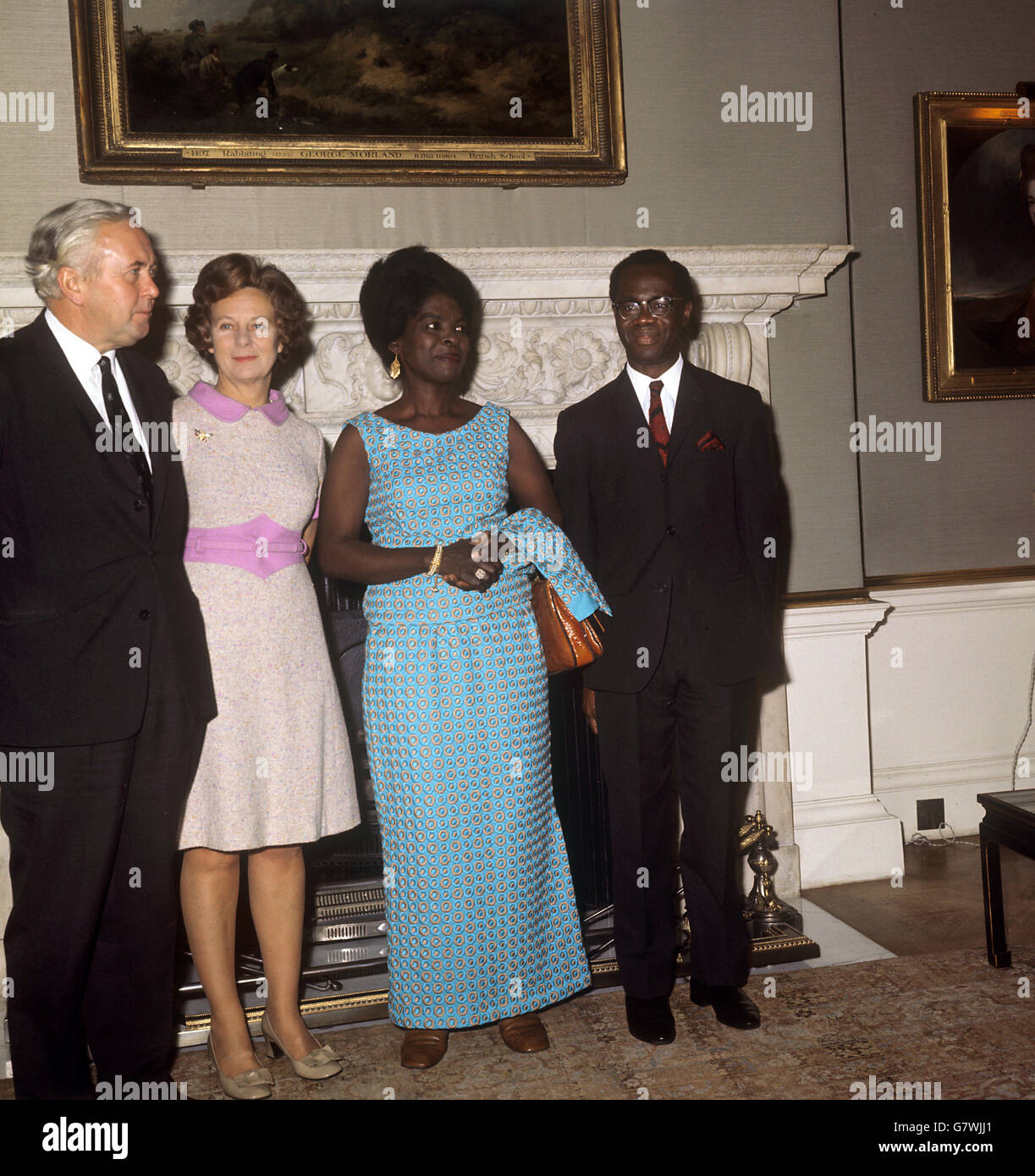 Wife Of The Prime Minister Harold Wilson Stock Photos & Wife Of The ...