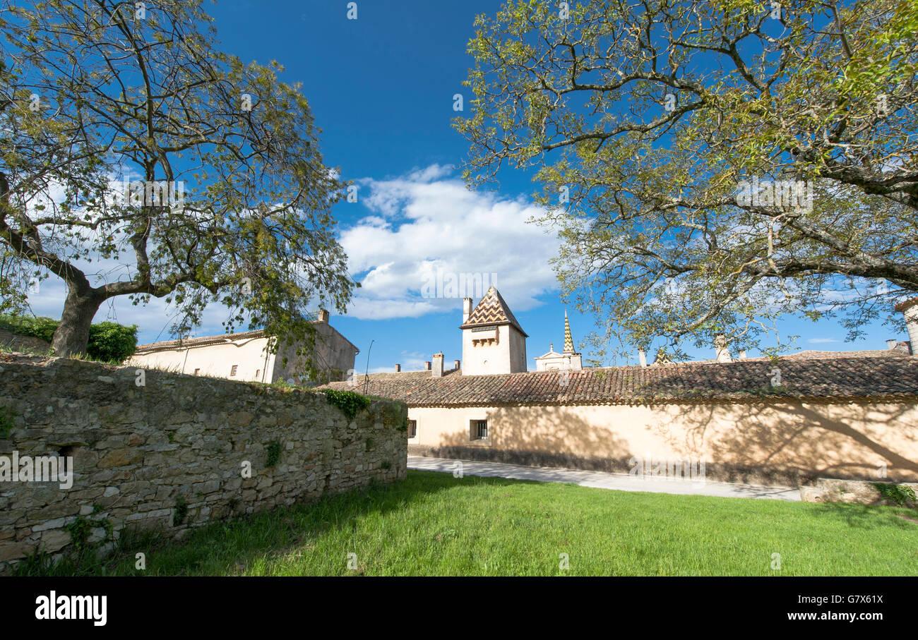 Chartreuse de Valbonne, a halt on the pilgrimage to Santiago de Compostela - Stock Image