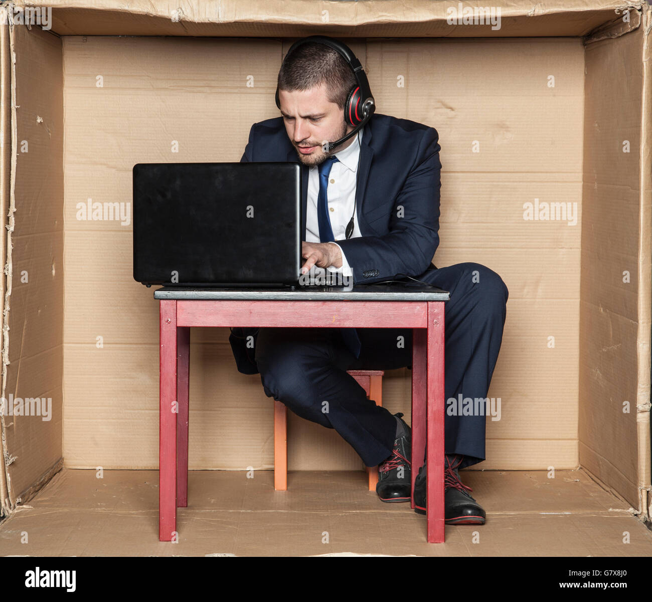 concentration at work is essential Stock Photo