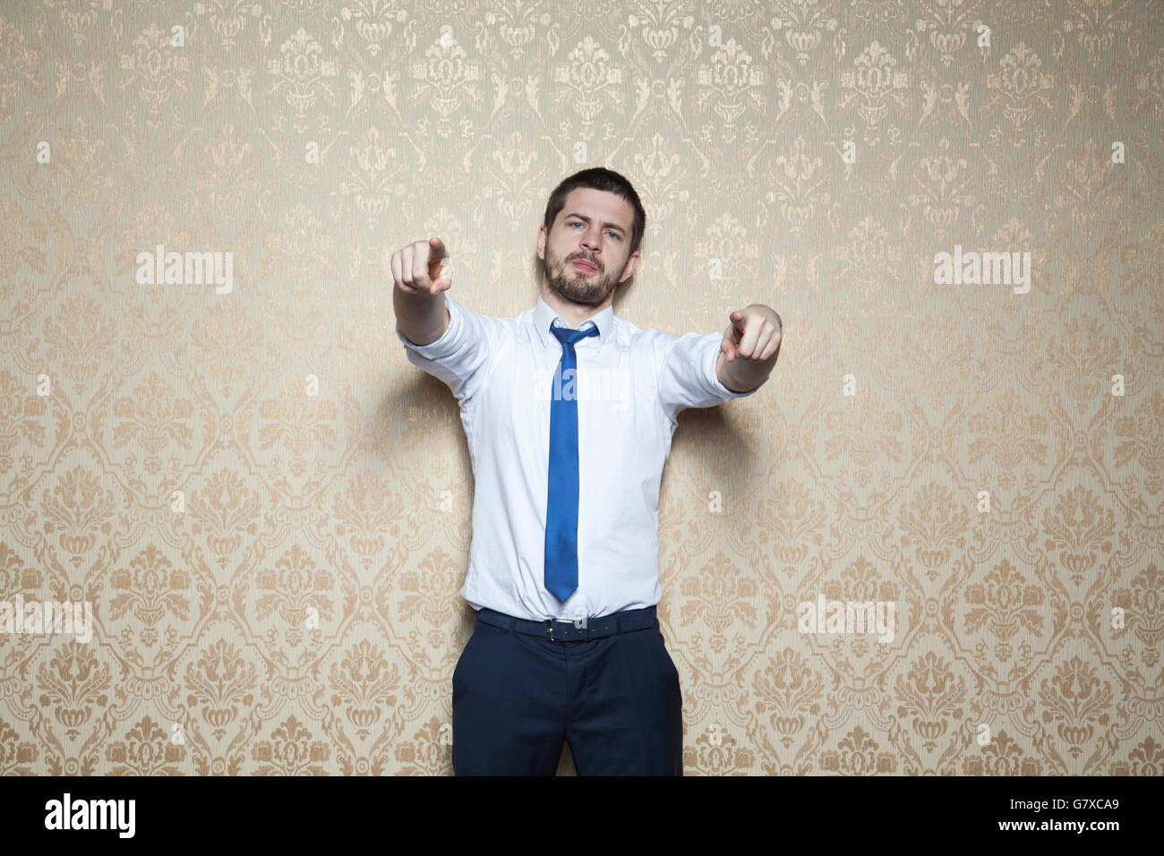 pointing at you - Stock Image