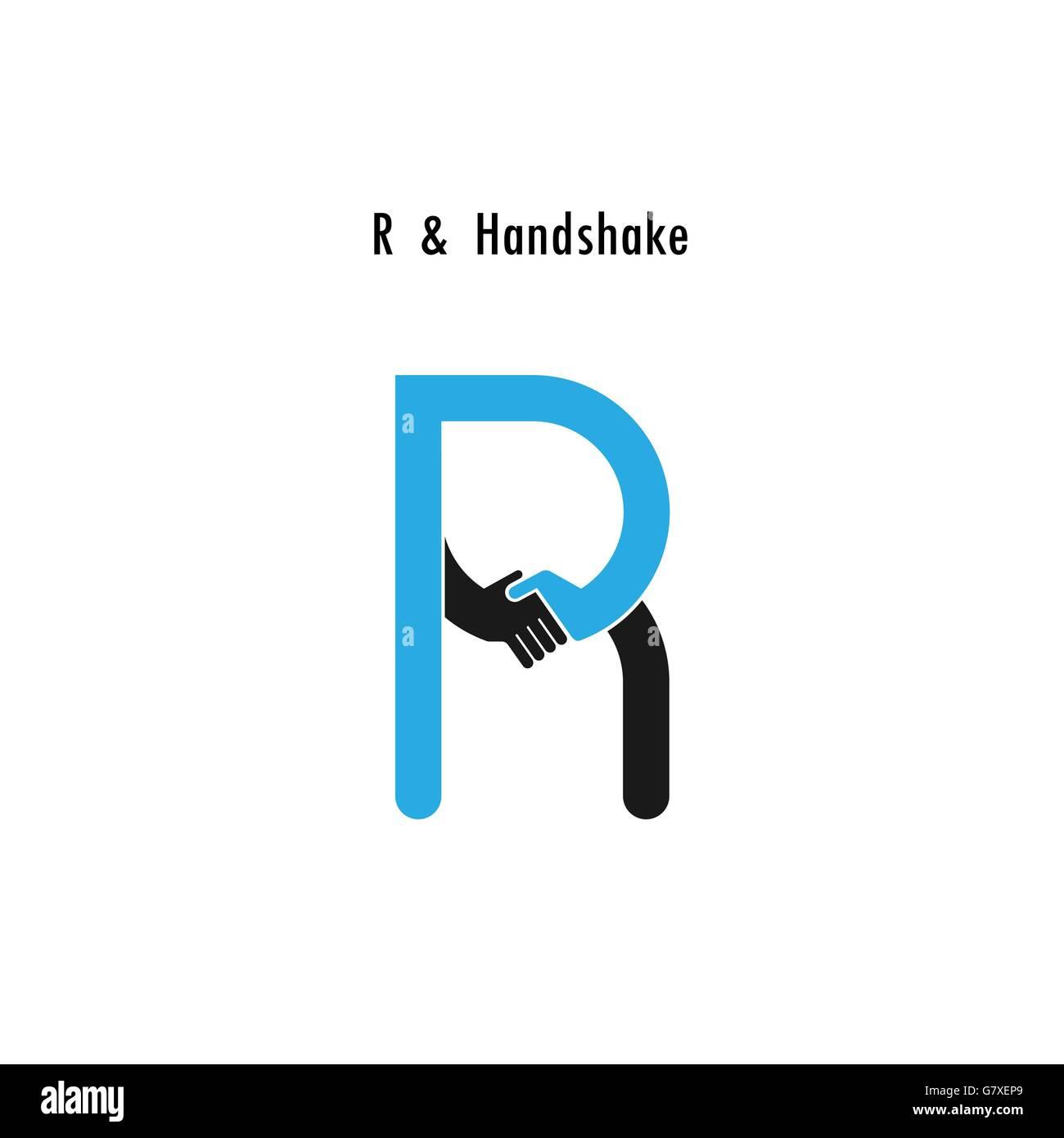 Creative R Letter Icon Abstract Logo Design Vector Template
