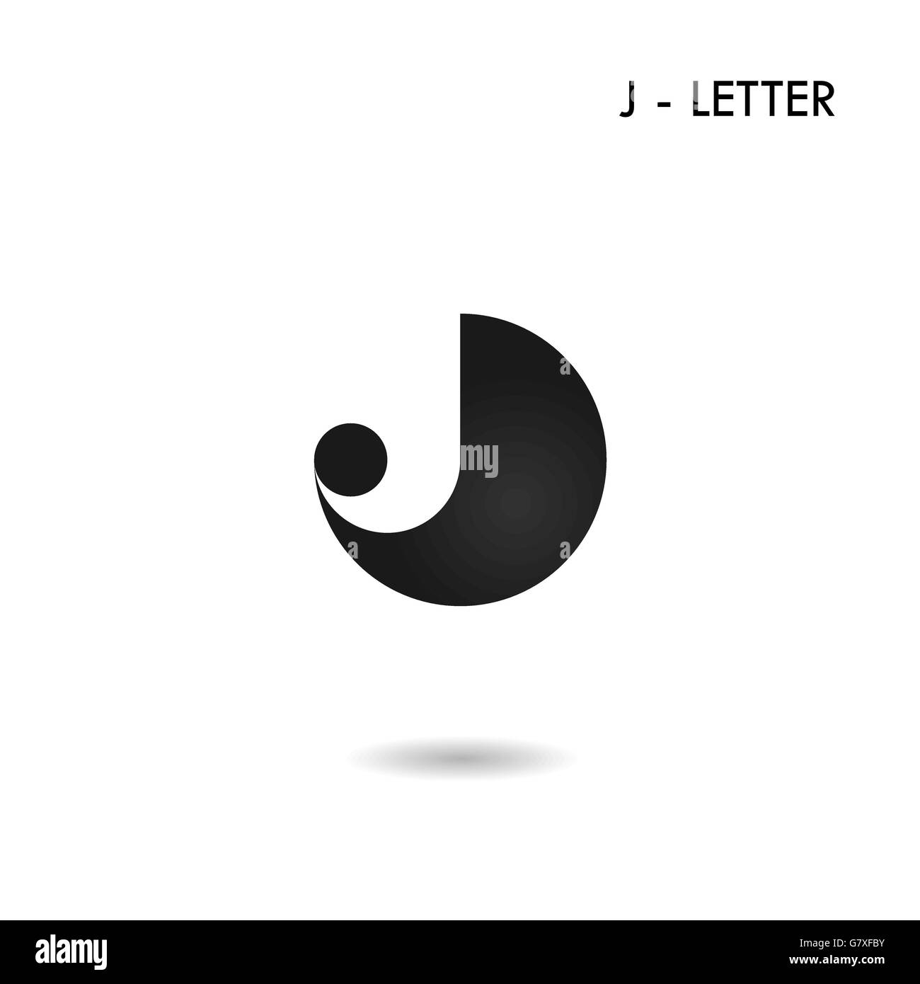 Black circle sign and creative j letter icon abstract logo stock black circle sign and creative j letter icon abstract logo designj alphabet symbolrporate business and industrial logotype biocorpaavc Images