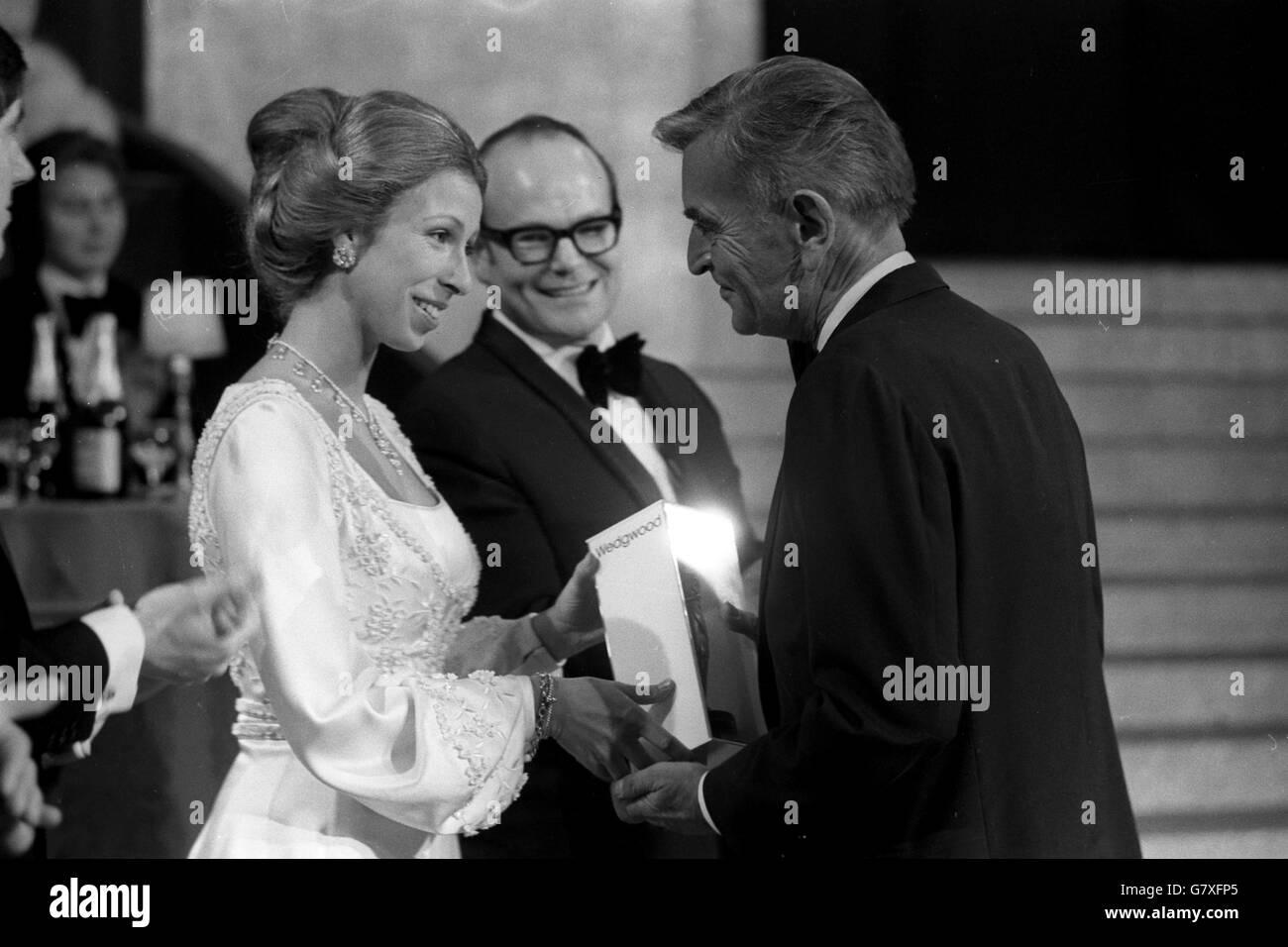 Film - Fellowship Award - Princess Anne and David Lean - London - Stock Image